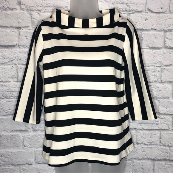 Anthropologie Tops - Anthropologie Postage Stamp Striped Top